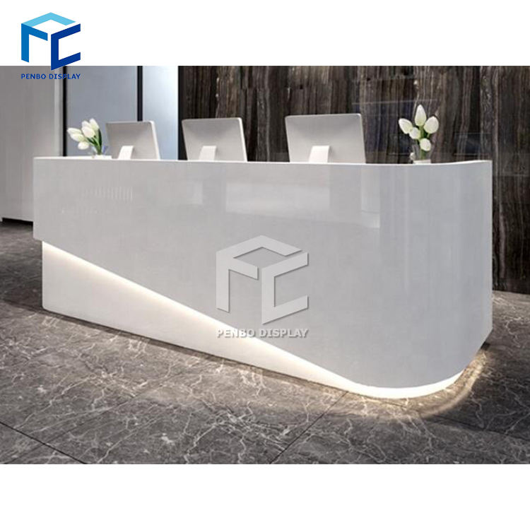 Hot Selling Simple Clothing Wooden Shop Cash Counter Design Furniture Store Counter
