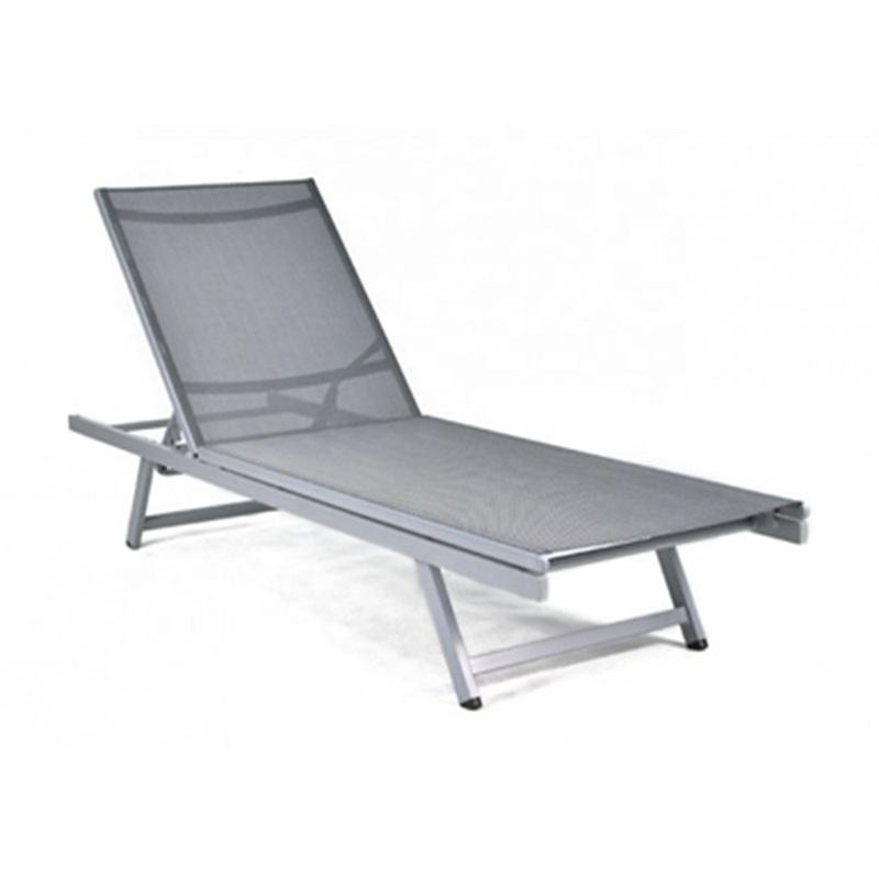 Moderne Goedkope Goede <span class=keywords><strong>Kwaliteit</strong></span> Fauteuil Beach Lounge Bed Verstelbare Aluminium Strand Ligstoel voor Leisure