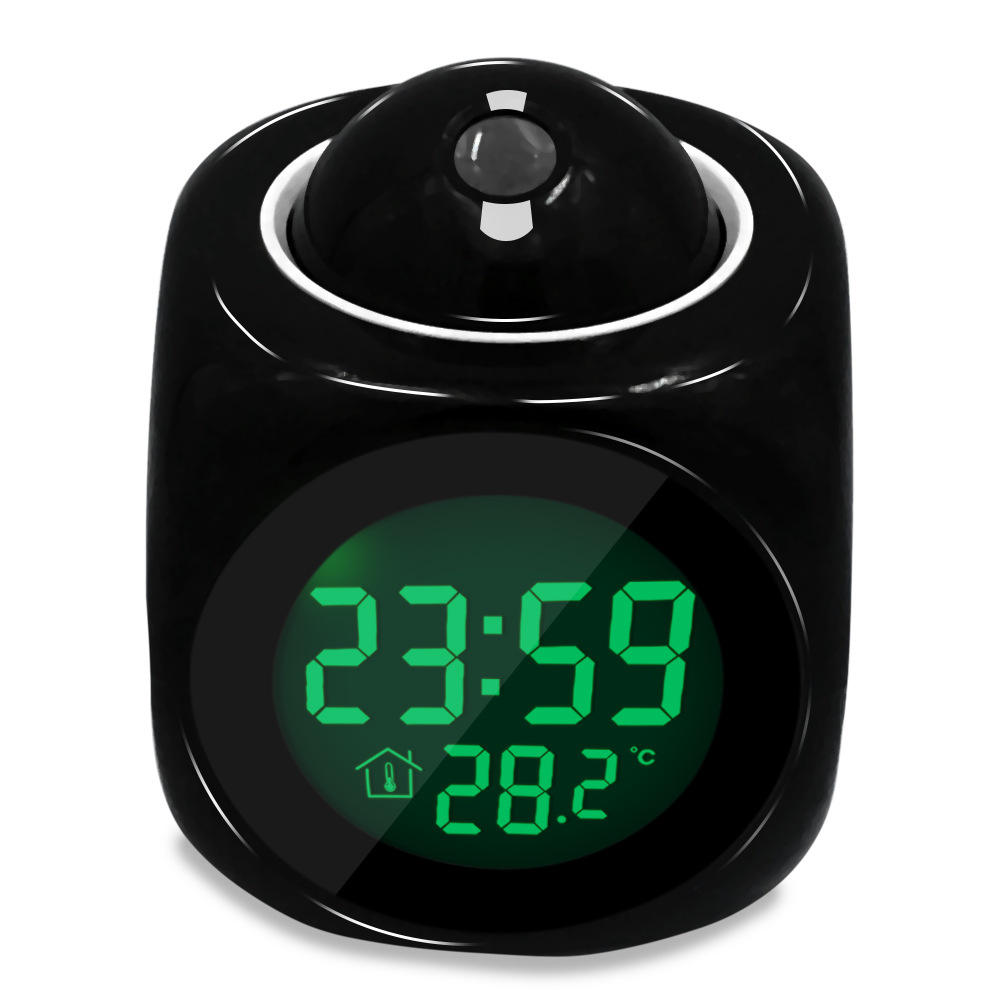 Projection digital alarm clock electronic multifunctional custom living room creative voice report clock