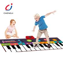 Educational children gym activity play musical electronic piano mat for kids