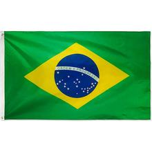 Hot wholesale green yellow blue printing Brazil National Flag foldable 3x5 FT 90X150CM banner polyester Brazilian flag