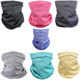 Head Face Neck Gaiter Wholesale Custom Tube Head Scarf Sports Cycling Circular Neck Gaiter Face Bandana Scarf With Filter