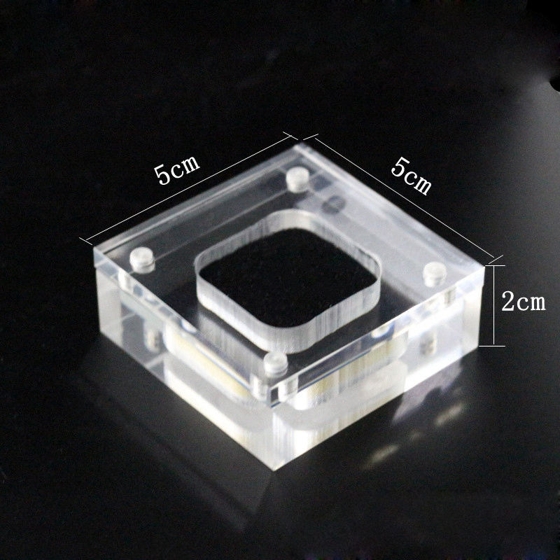 New design high quality clear acrylic earring rings jewelry display box with magnet lid