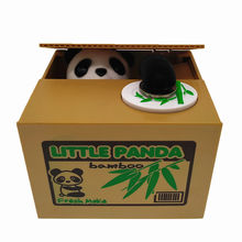 Wholesale steal coins panda piggy bank in money boxes atm piggy bank for kids