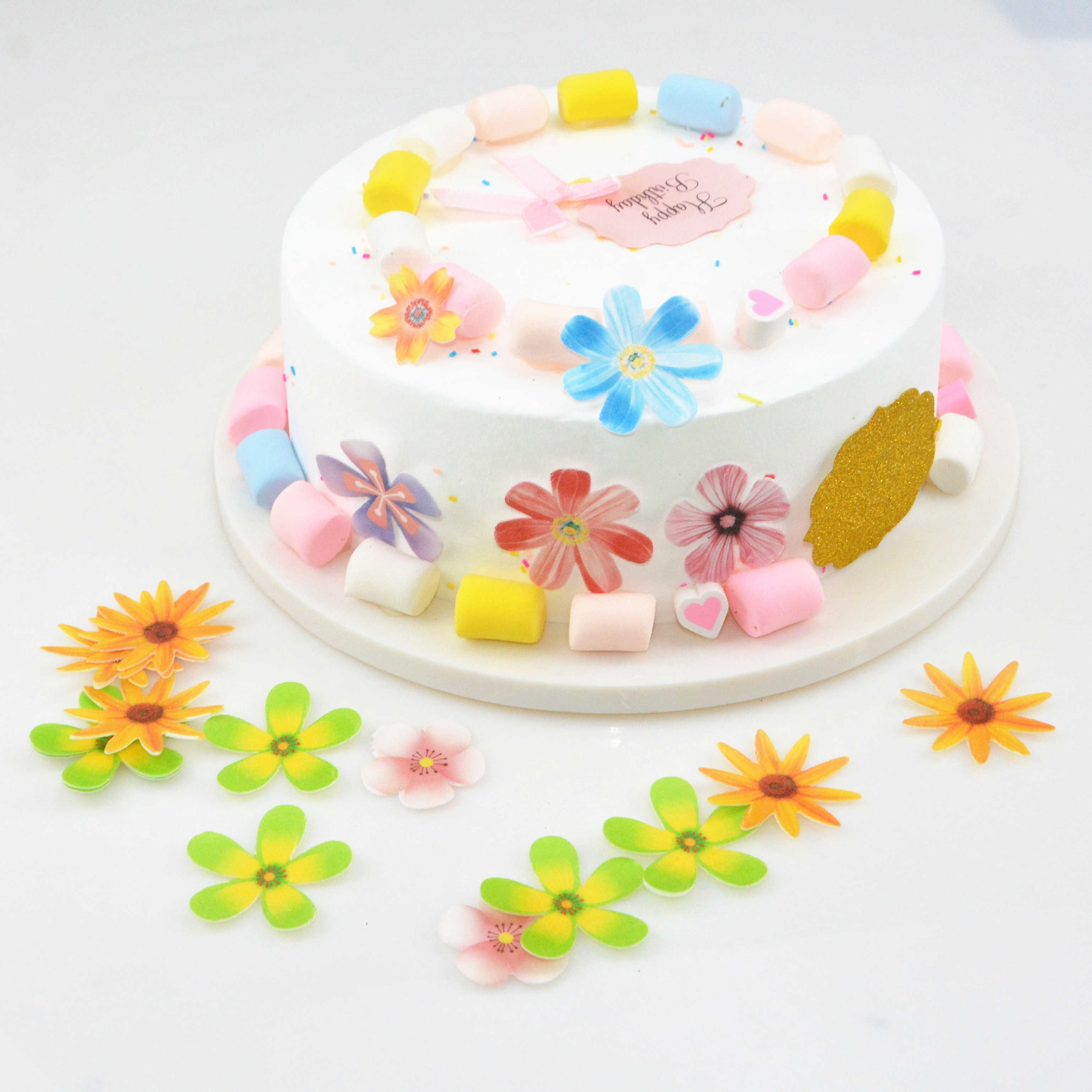 flower Edible Wafer Paper,for cake decoration,cake tools 336pcs/box
