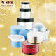 high capacity 100g 200g 300g 500g plastic body cream jar with silk print