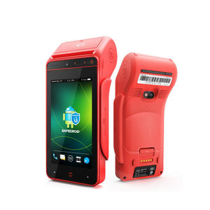 I9100 wireless handheld android smart pos terminal with printer can with card slot 4G handheld pos and smart computer