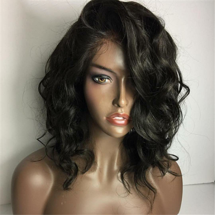 Wholesale 100% Raw Malaysia Human Hair Full Lace Wigs for black women