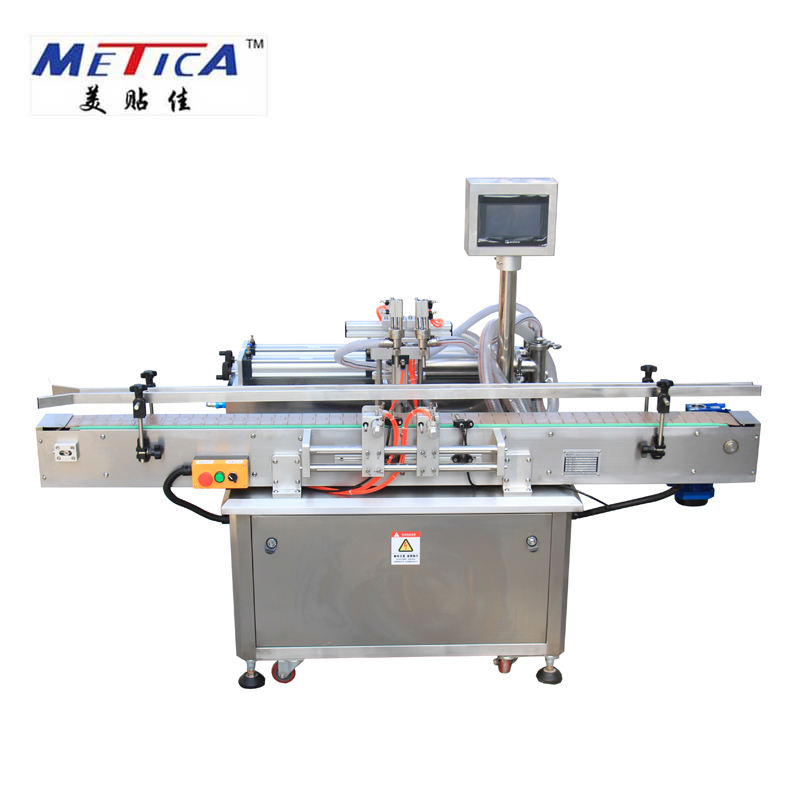 Automatic two nozzles liquid or viscous products filling machine and pneumatic sauce filling machine low price filling machine