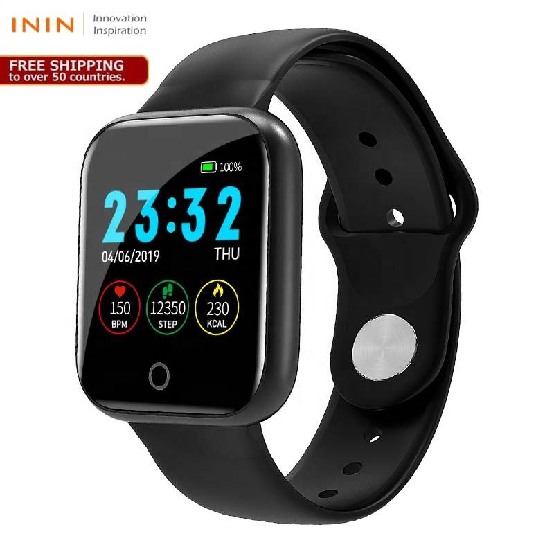 Free Shipping ININ smart watch I5 heart rate one touch press of the screen smart bracelet smartwatch
