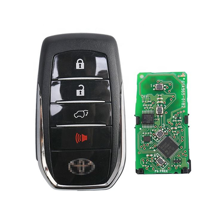 Original Keyless 4 Button 433 Mhz 8A Chip Remote Smart Car Key Shell Without Blade For Toyota Fortuner 2015 - 2018 Car Key