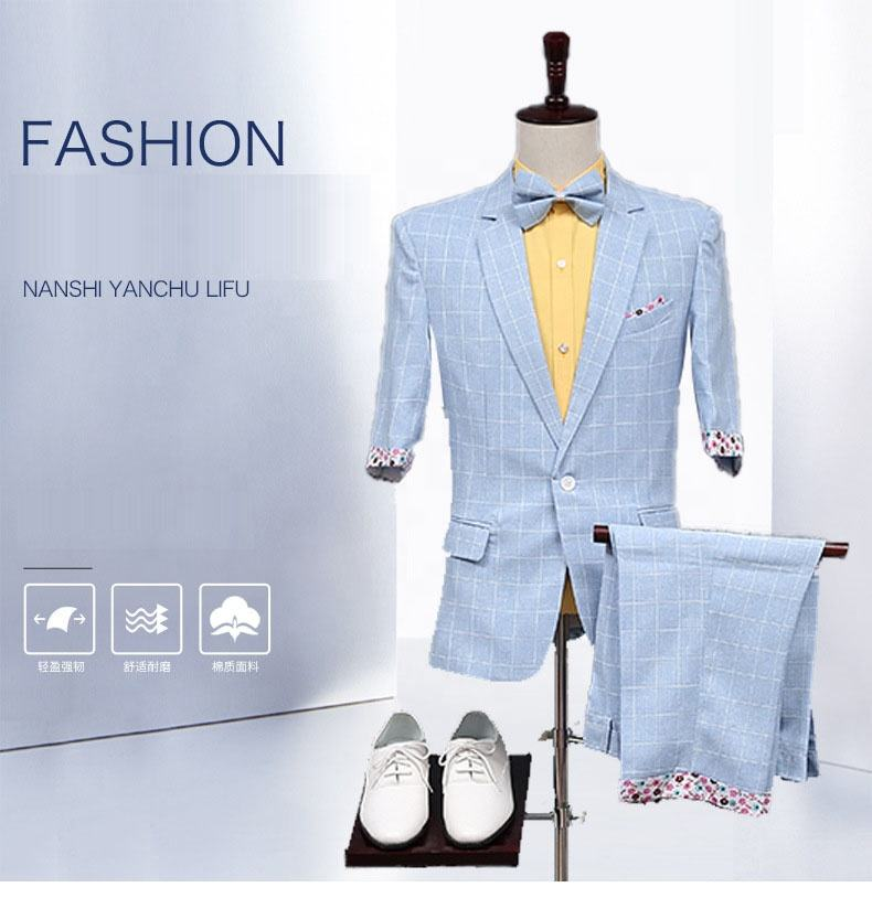 summer men wedding pant suits casual suits
