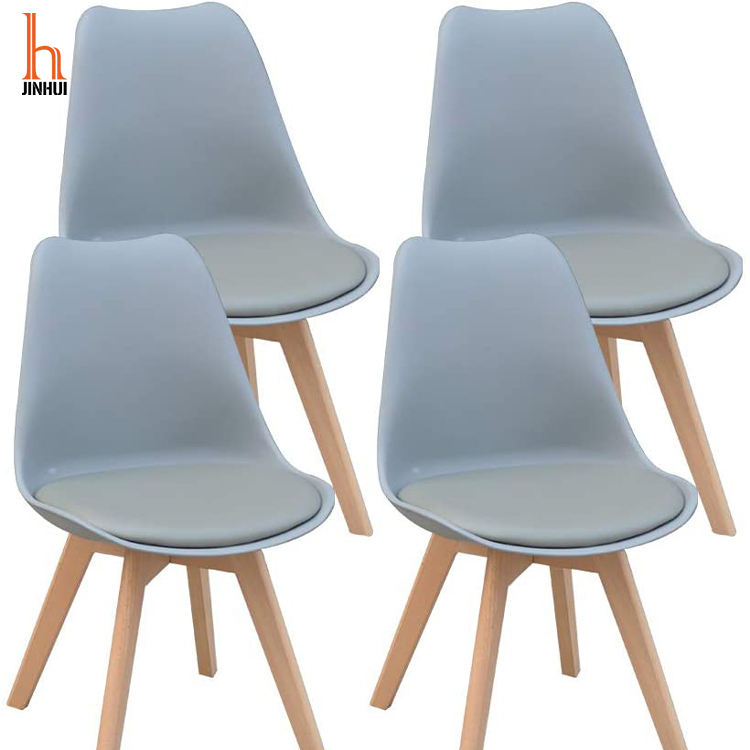 Plastic Seat Design Modern Wood Dining Chair