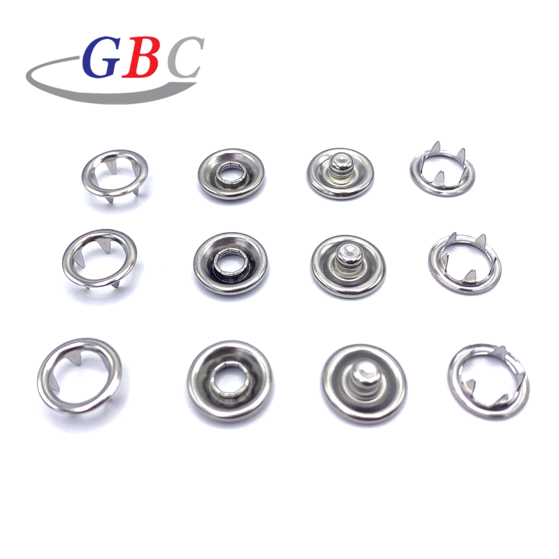 5 Color x 10 Sets Pearl Snaps Fasteners Kit,10m Prong Ring Snaps for Western Shirt Clothes Popper Studs