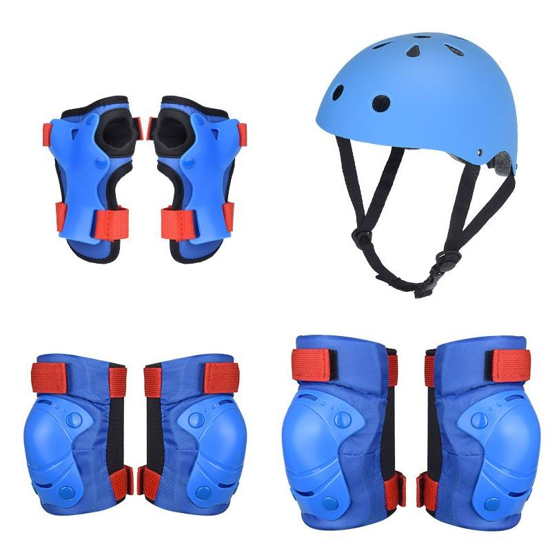 kids biking and skating helmet set with safety pads riding safety gear set for kids