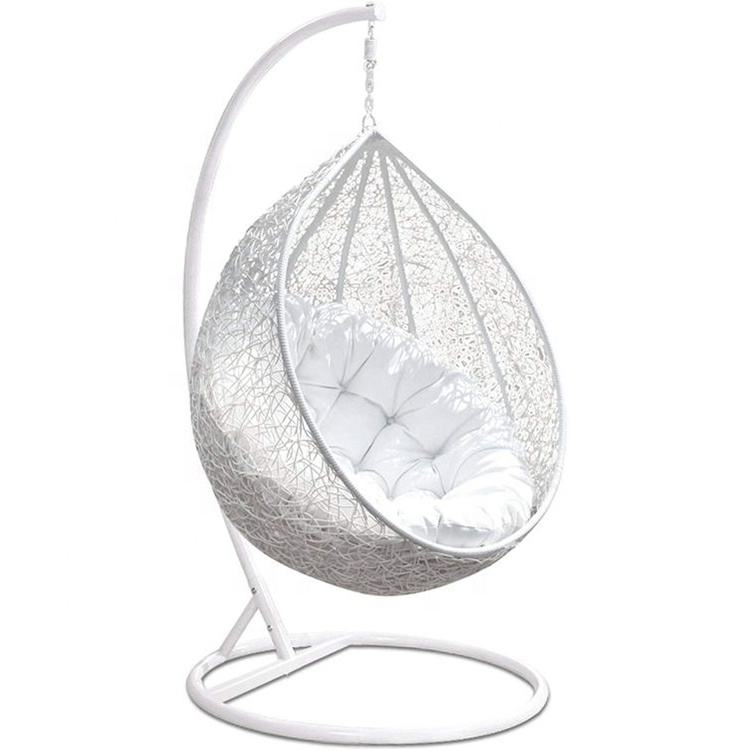Rattan Swing Hanging Chair for Garden Patio Indoor Outdoor Swing Lounge Easy Storage 150Kg Capacity Egg Chair