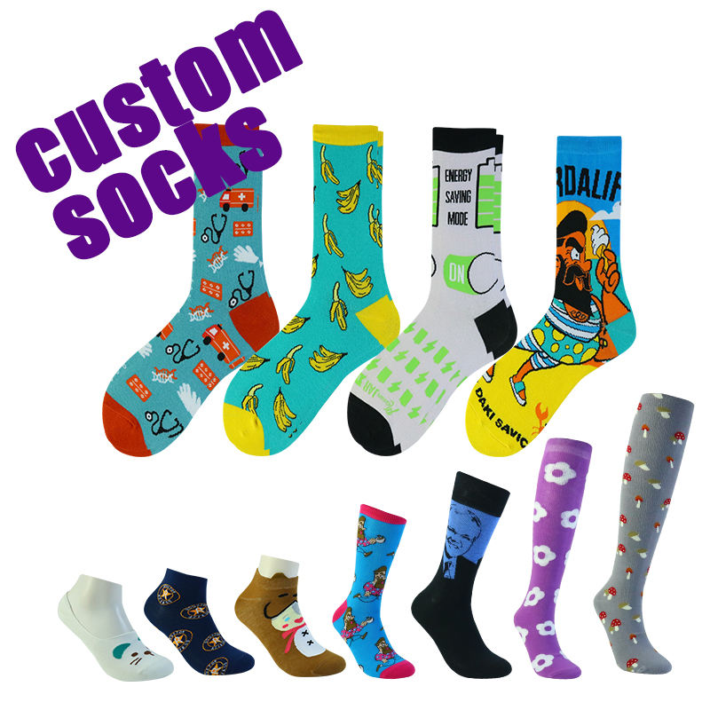 Custom made embroidery design your own pattern cotton crew men custom sock with logo custom socks with logo