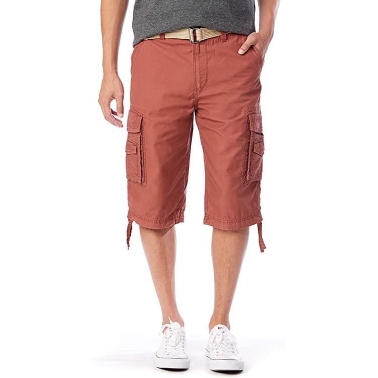 Wholesale Fashion Belted Reg Plus Big and Tall Chino Shorts Cotton Capri Men Cargo Shorts