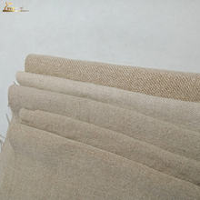 Thick 100% French Flax Linen Upholstery Fabric Enzyme Washed Pure Cotton Linen Fabric Wholesale