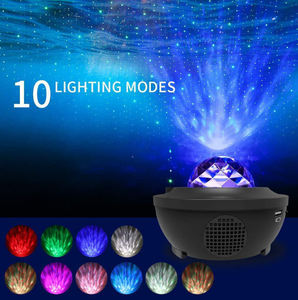 Colorful Starry Sky Laser Star Projector LED Night Light  Bluetooth Voice Control Music Player USB Charging Projection Lamp