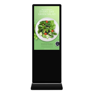 43 Inch Indoor Portable Advertising Screen Kiosk TFT Android Floor Stand LCD Digital Signage