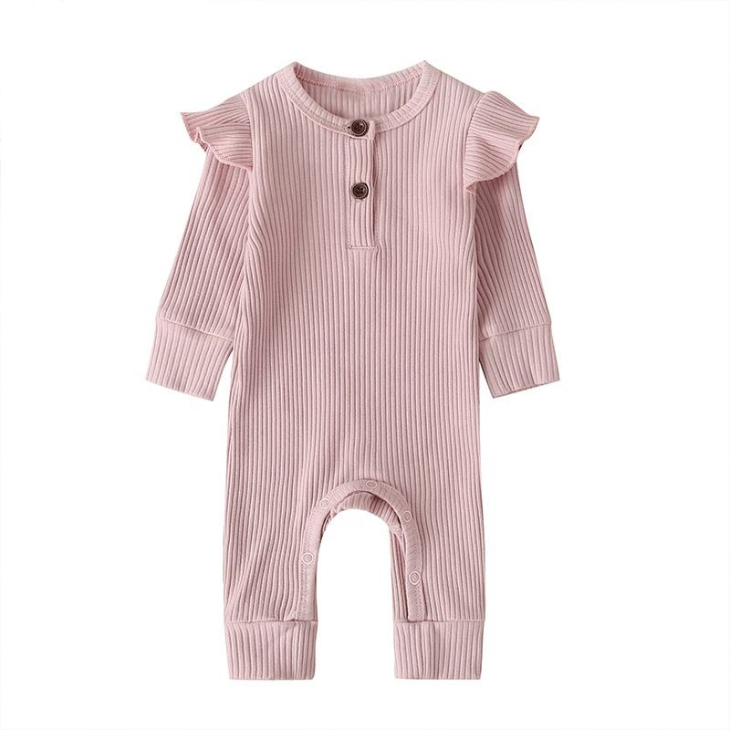 baby newborn girl clothes cotton long sleeves rompers toddlers pajamas newborn baby sleepwear