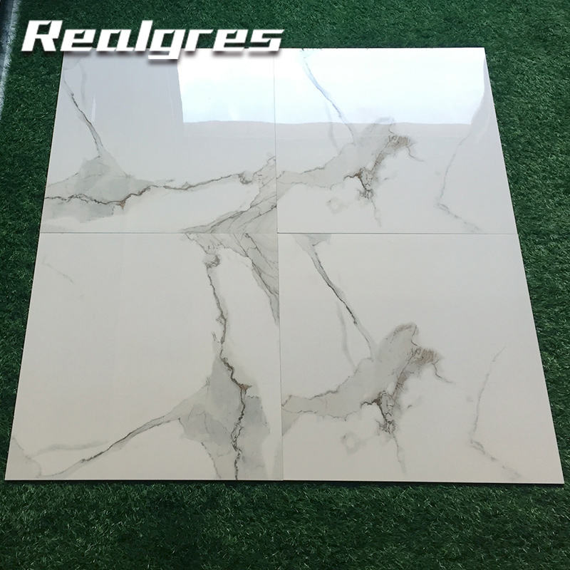 Y60176 Floor Gres 60x60 80x80 600 X 600mm White Porcelain Tile