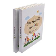 Little Baby Memory Book Custom Printing with touch ink pad and gift box/Mordern baby shower gift for expecting parents