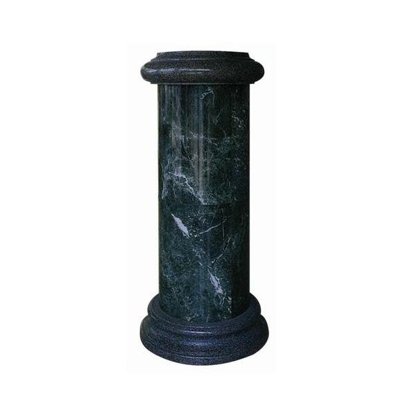 MCS023 China Low Price D60X140CM Green Marble Stone Column