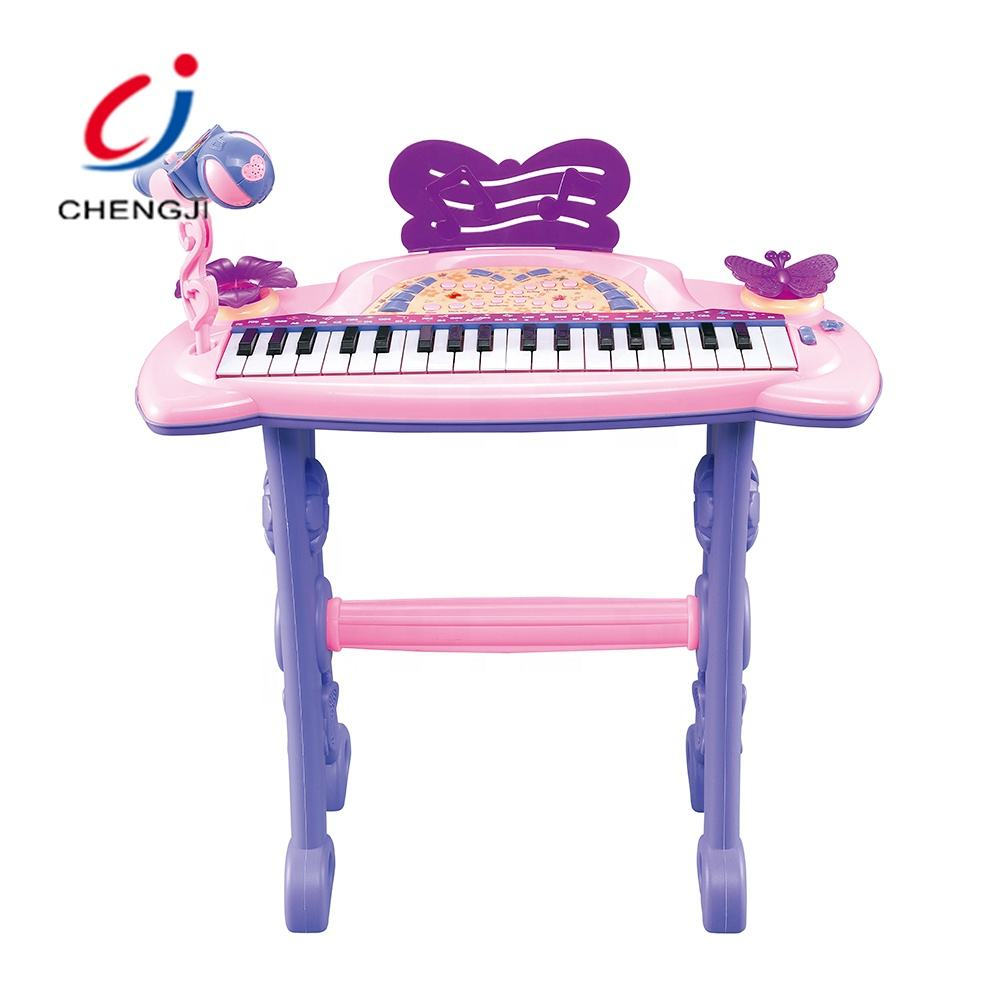 Popular baby musical instrument electronic learning plastic keyboard piano toy