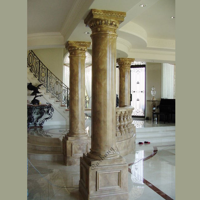 Low Sale Yellow Marble Column For Hollow Cover