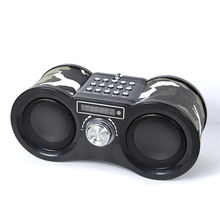 Customize Beverage Promotions Portable Telescope usb fm bluetooth speaker with radio