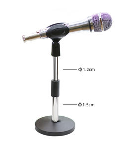 Factory Direct Iron Base Adjustable Boom Steel Desktop Table Microphone Mic Stand Desk Mini