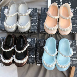 Melissa children sandals girl 3d Pearl Jelly fish mouth baby
