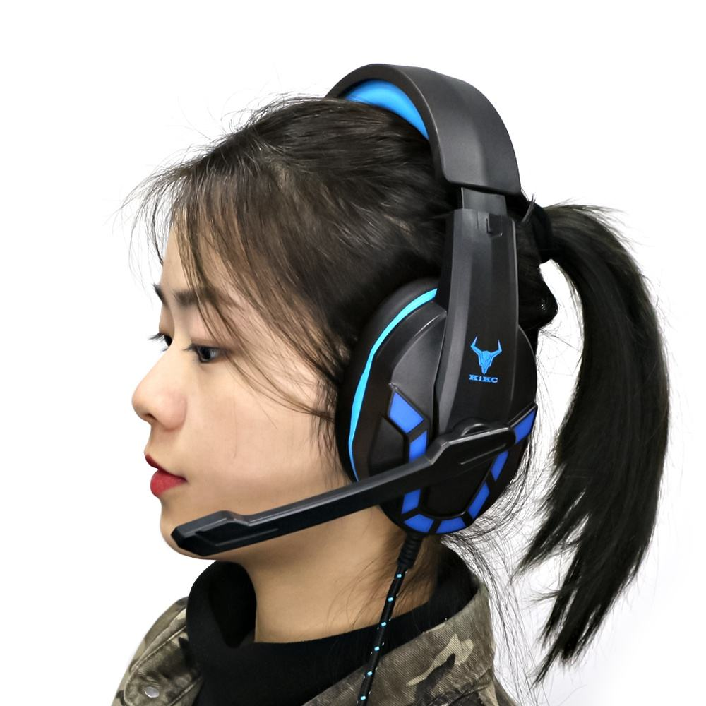 KIKC Rgb Light Headset 7.1 Surround Stereo Gaming Headphone With Mic For Gamer