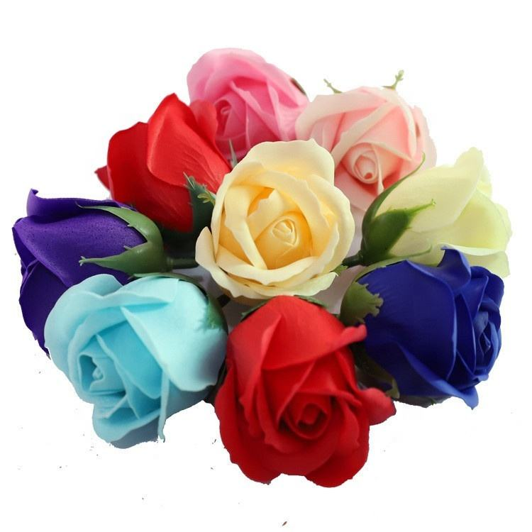 Wholesale soap flower Mother Day Custom LOGO New Handmade rose soap flower for soap flower heads