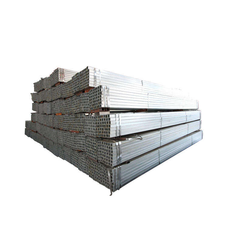 ms carbon steel galvanized square tube galvanized square metal fence posts 50x20 galvanized rectangular steel pipe