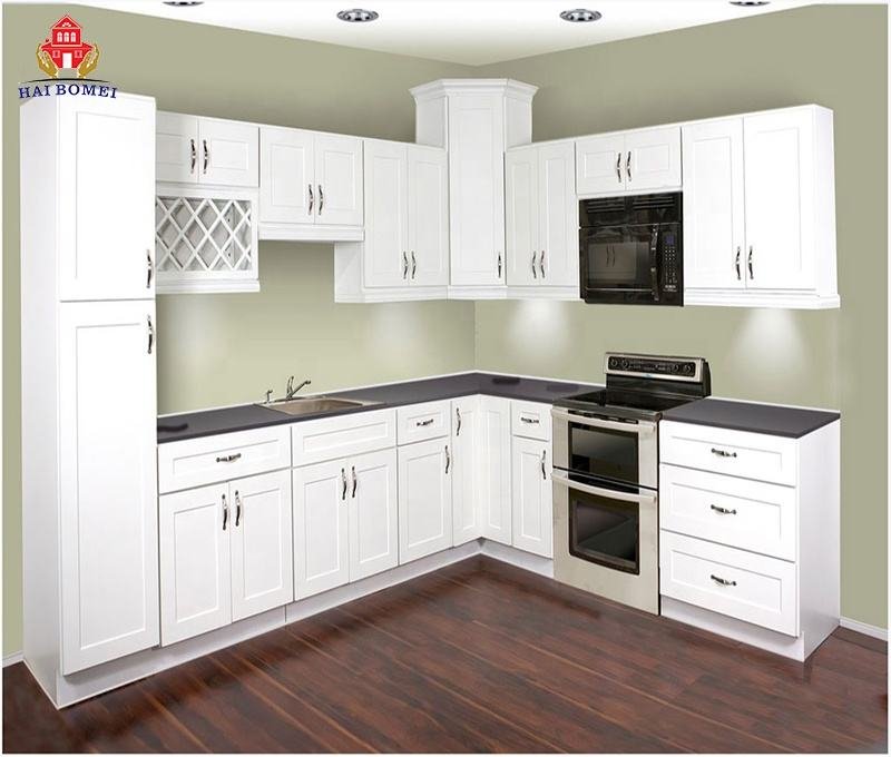 wood white aluminum kitchen cupboard & kitchen cabinet