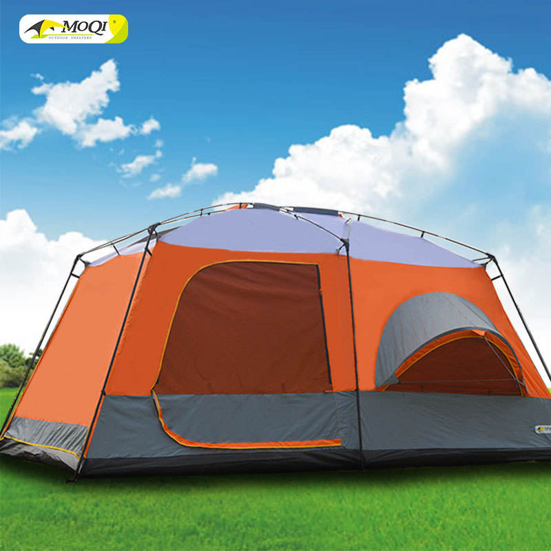 Wholesale Hiking Big Double Layer 4 6 10 12 Person Large Family Waterproof Tents Camping Outdoor