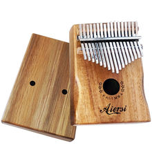 Wholesale price aiersi brand solid koa Kalimba 17 keys Thumb Piano keyboard with bag hammer and book musical instrument for sale
