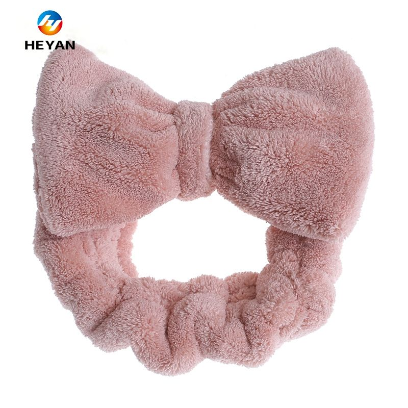 Coral velvet microfiber hair band wrap spa towel headband for women bath