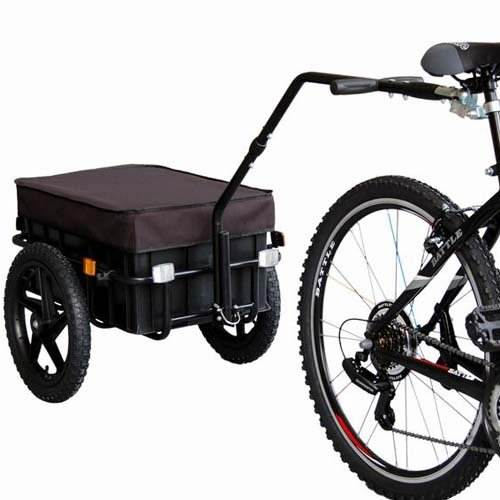 Bicycle cargo trailer with moveable box and cover, 2 in 1 box cargo trailer manufacture sell luggage cargo trailer