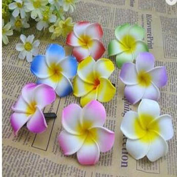 4-9cm Foam Hawaii Beach Flowers For Wedding Party Box Decoration DIY Artificial Garland Supplies Summer Wreath Craft