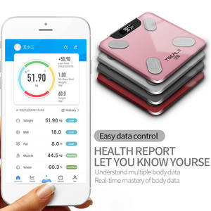 New Design Chargeable Digital Bathroom Large Smart Bluetooth APP LCD Body Fat Scale