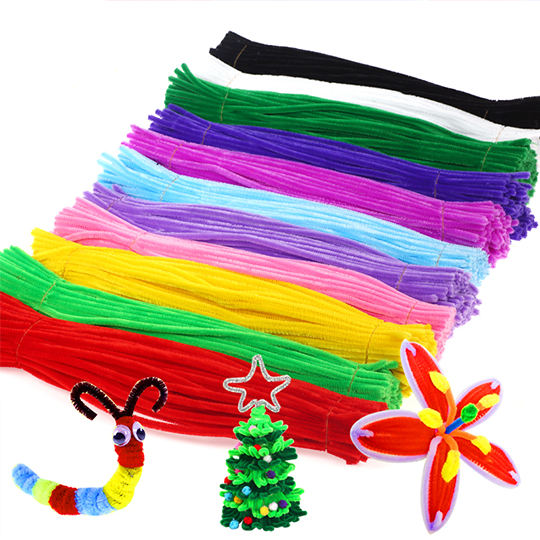 DIY Toddlers toys customized kids arts crafts set pipe cleaners felt sheet pom poms sticker