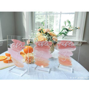 Acrylic Place Card Slot Stand Acrylic Table Sign Stand Wedding