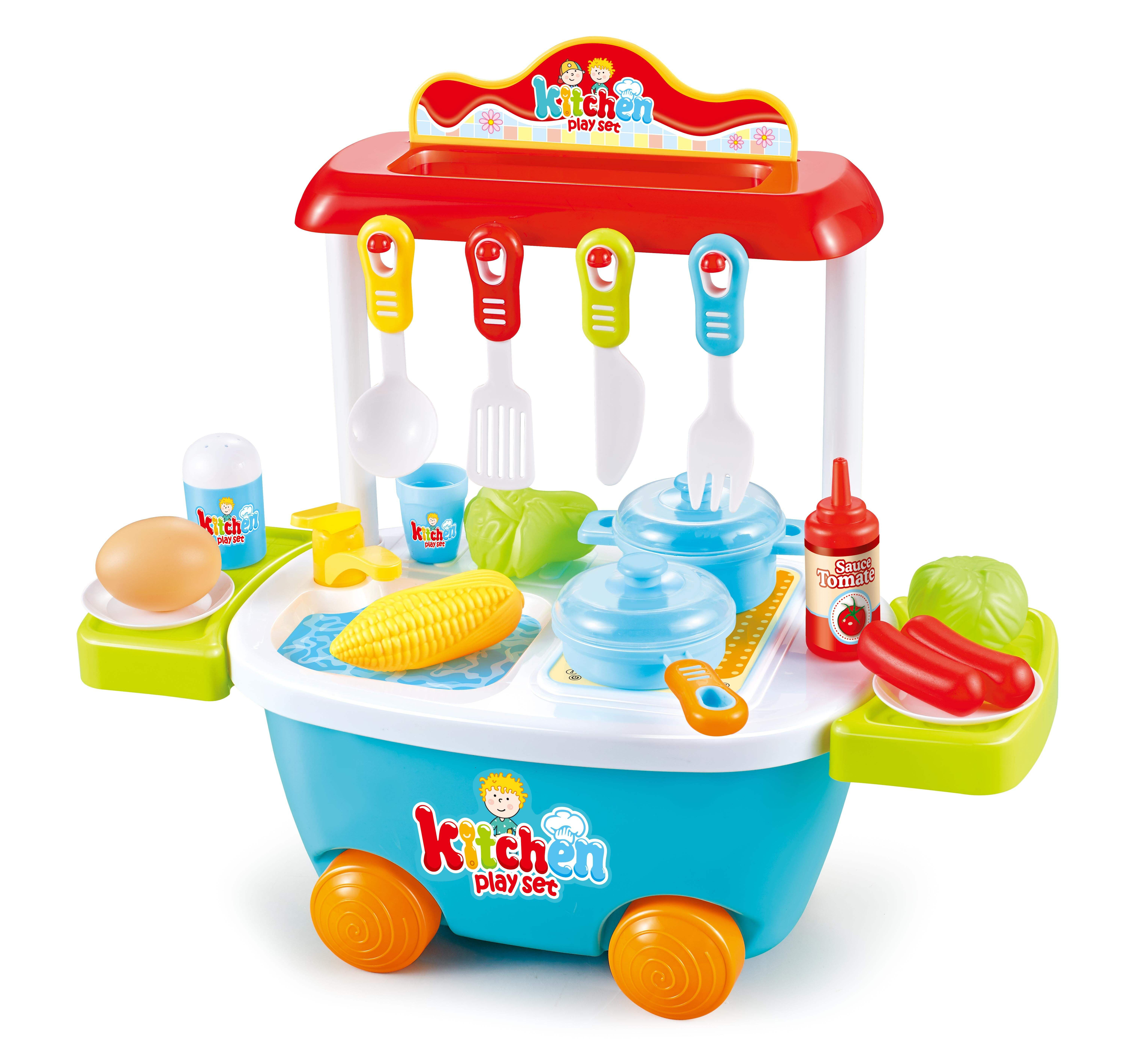 Playing [ Set Toy ] 2020 Hot Selling Popular Plastic Children Kitchen Play Set Toy For Kids