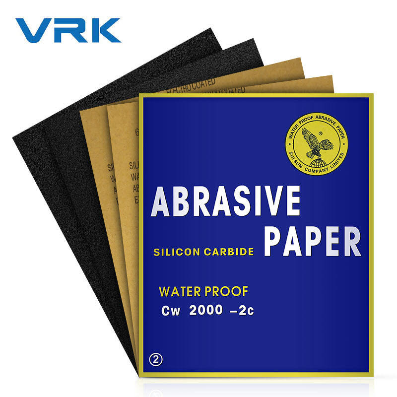 80 p180 p800 p1000 grit high quality silicon carbide korean abrasive sanding paper deer water grinding auto sandpaper for wood