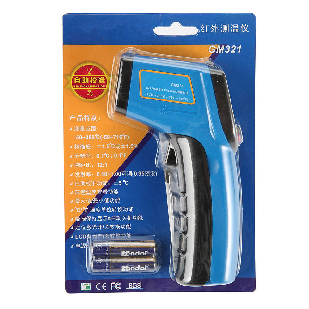 China Manufacturer Digital Mini Calibration Handheld Non-contact infrared Laser Temperature Gun Thermometer
