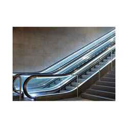 TUV approved outdoor glass escalator step for various occasions